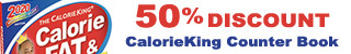 CalorieKing Counter Book 25% Discount