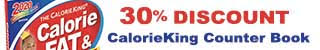 CalorieKing Counter Book 50% Discount